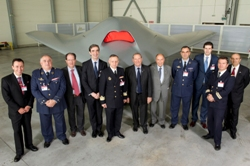 Spanish delegation during the presentation of the results of the UCAV Neuron Programme